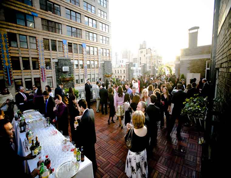 Midtown terrace party wedding corporate event space for Terrace party