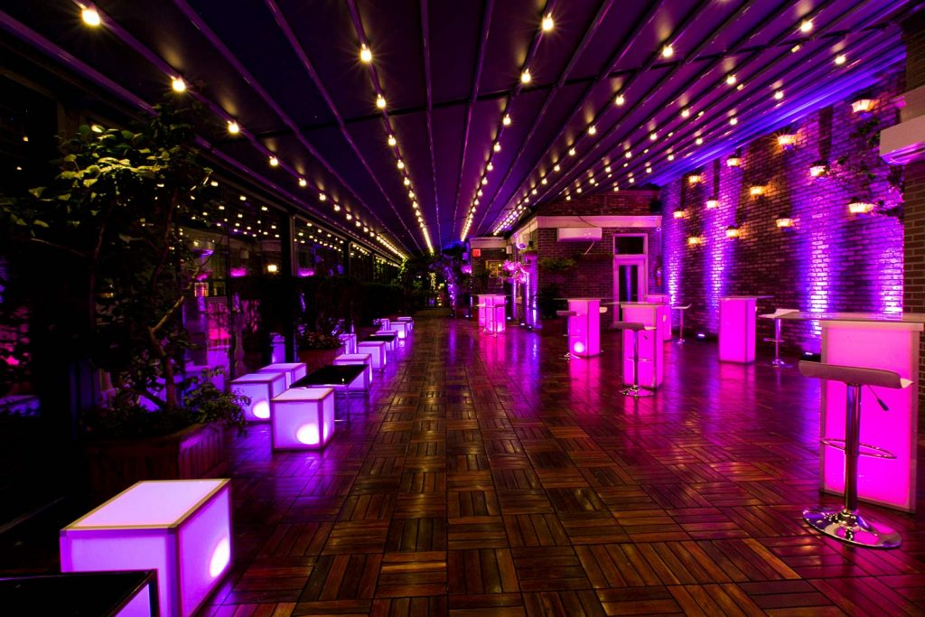pink and purple illuminated furniture - Midtown Productions