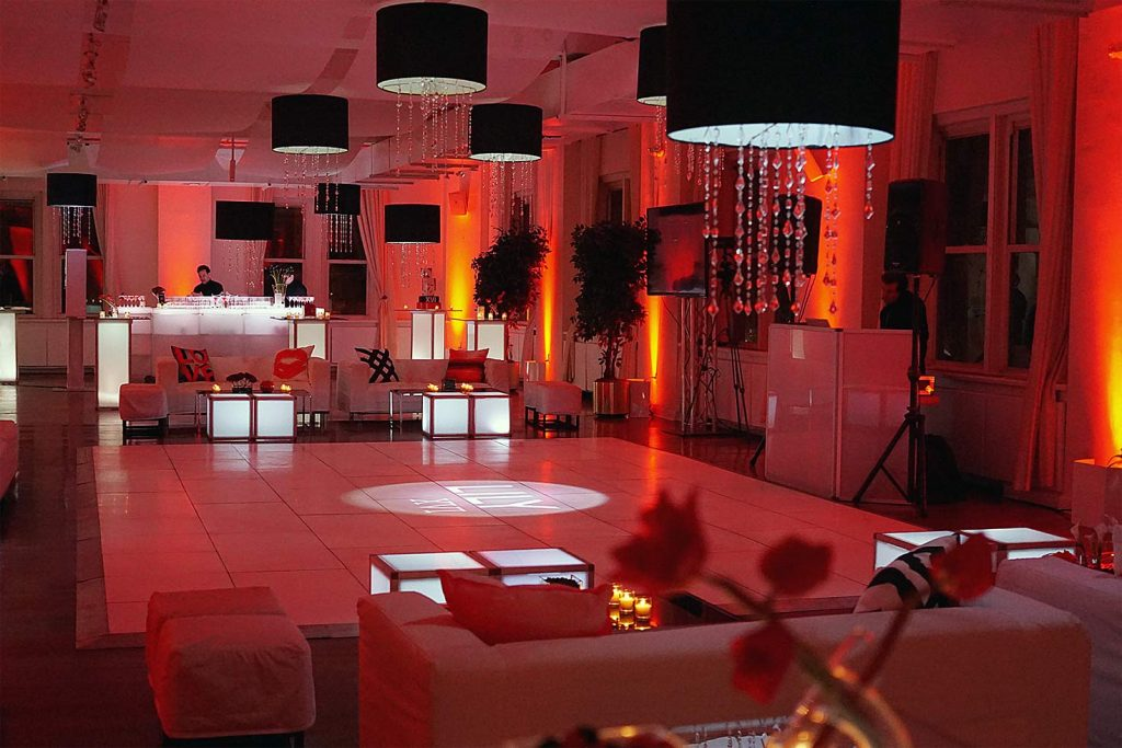 red dance floor -  Midtown Productions