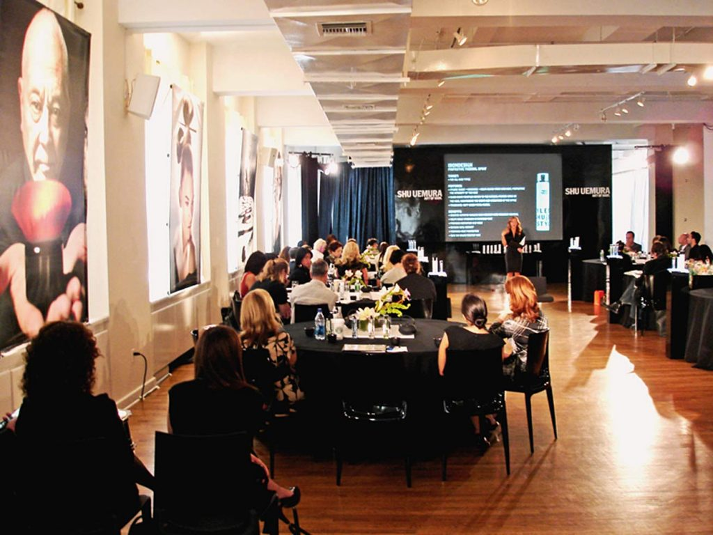 beauty industry event - NYC corporate event space