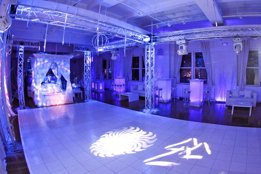 1 Midtown Loft venue space decorated for Sweet 16 event