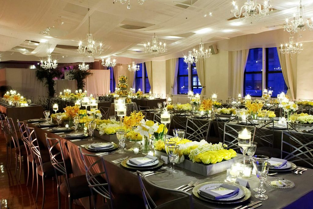 1 Midtown Loft venue decorated for a private wedding