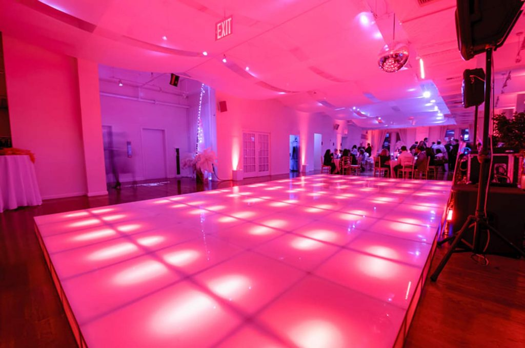 14 Midtown Loft venue space decorated for Sweet 16 event