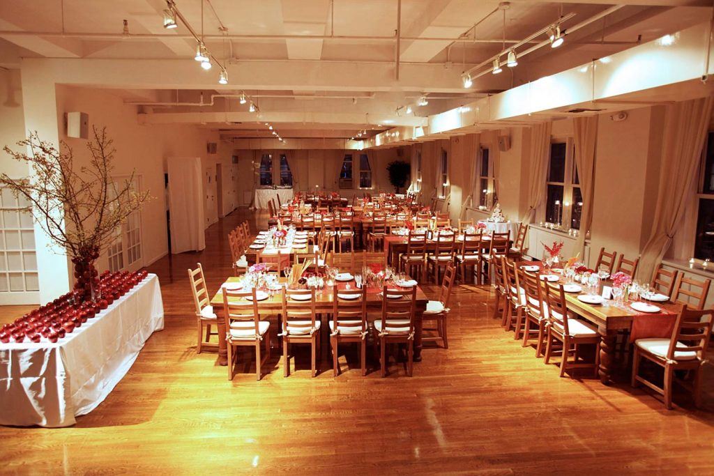 17 Midtown Loft venue decorated for a private wedding