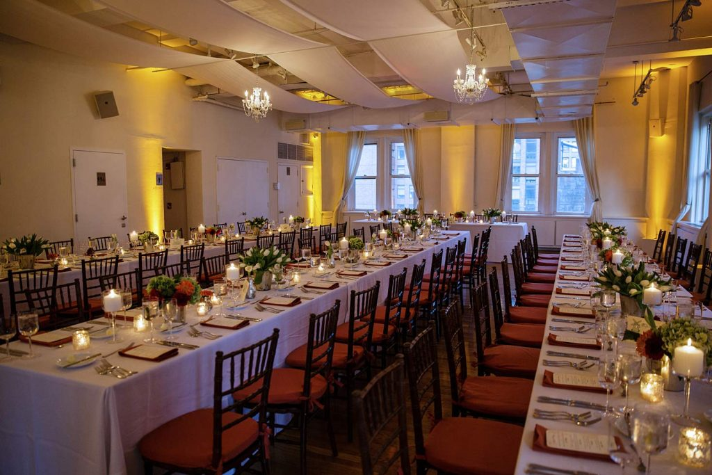23 Midtown Loft venue decorated for a private wedding