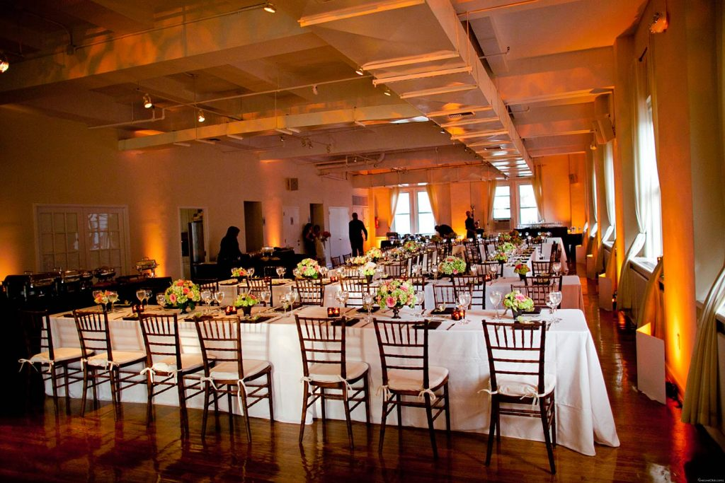 27 Midtown Loft venue decorated for a private wedding