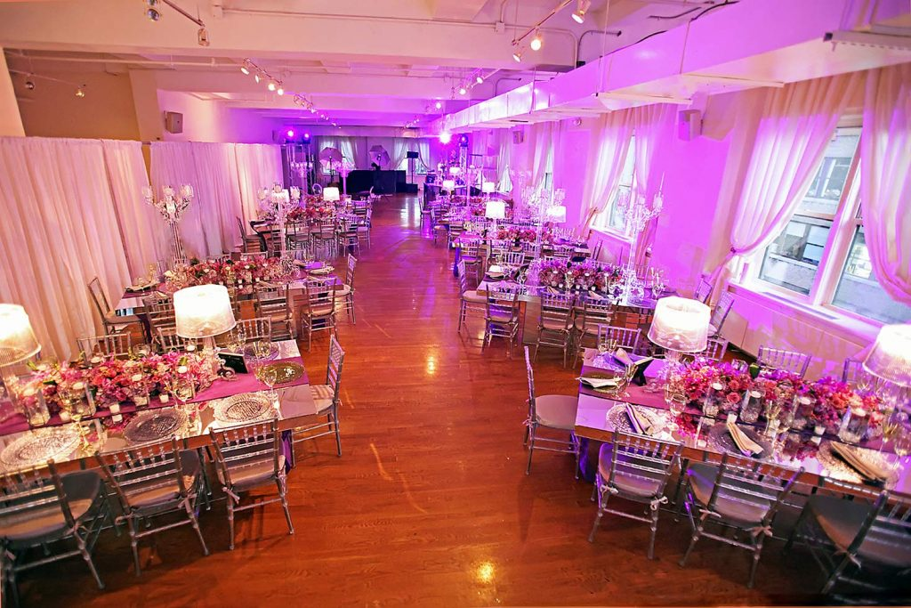 25 Midtown Loft venue decorated for a private wedding