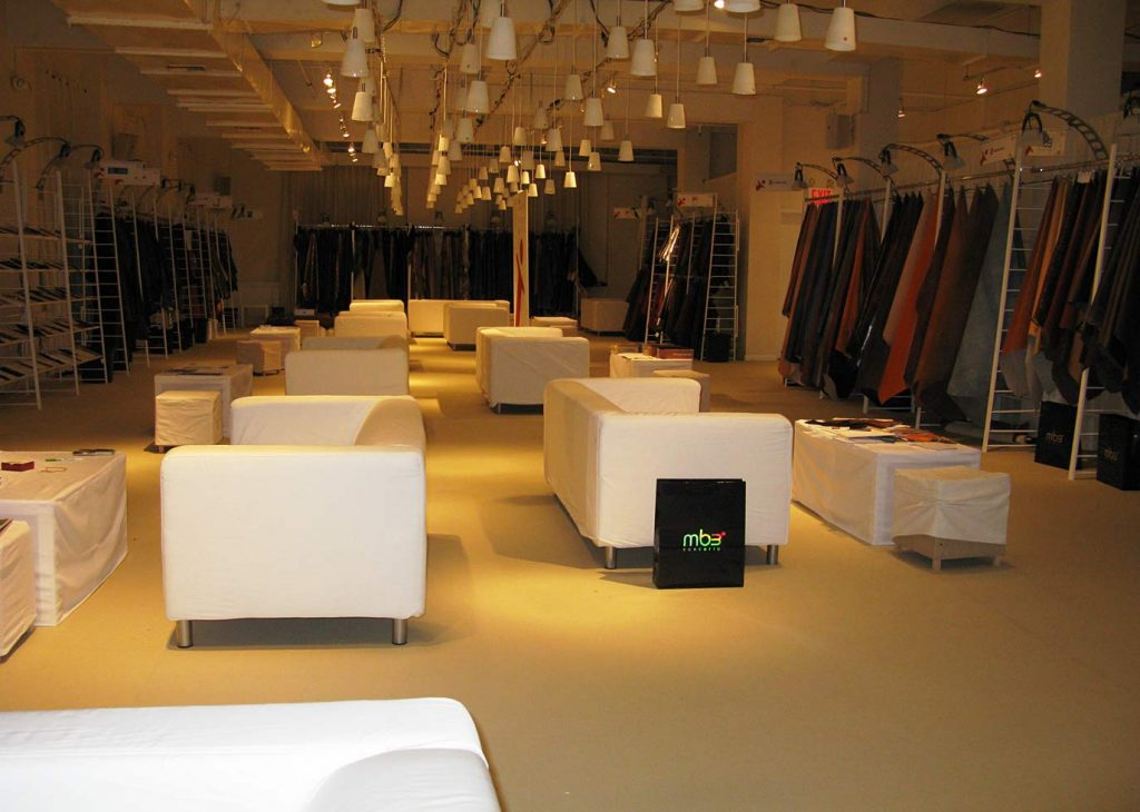 White couches - NYC corporate event space