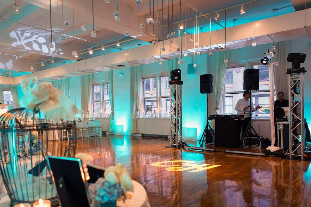 32 Midtown Loft venue decorated for a private wedding