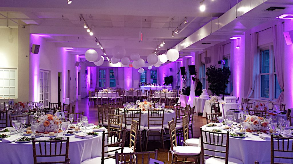 21 Midtown Loft venue decorated for a private wedding