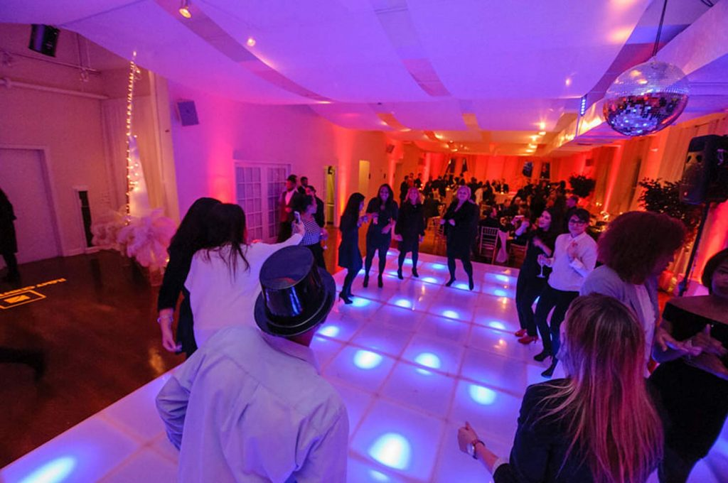 24 Midtown Loft venue space decorated for Sweet 16 event