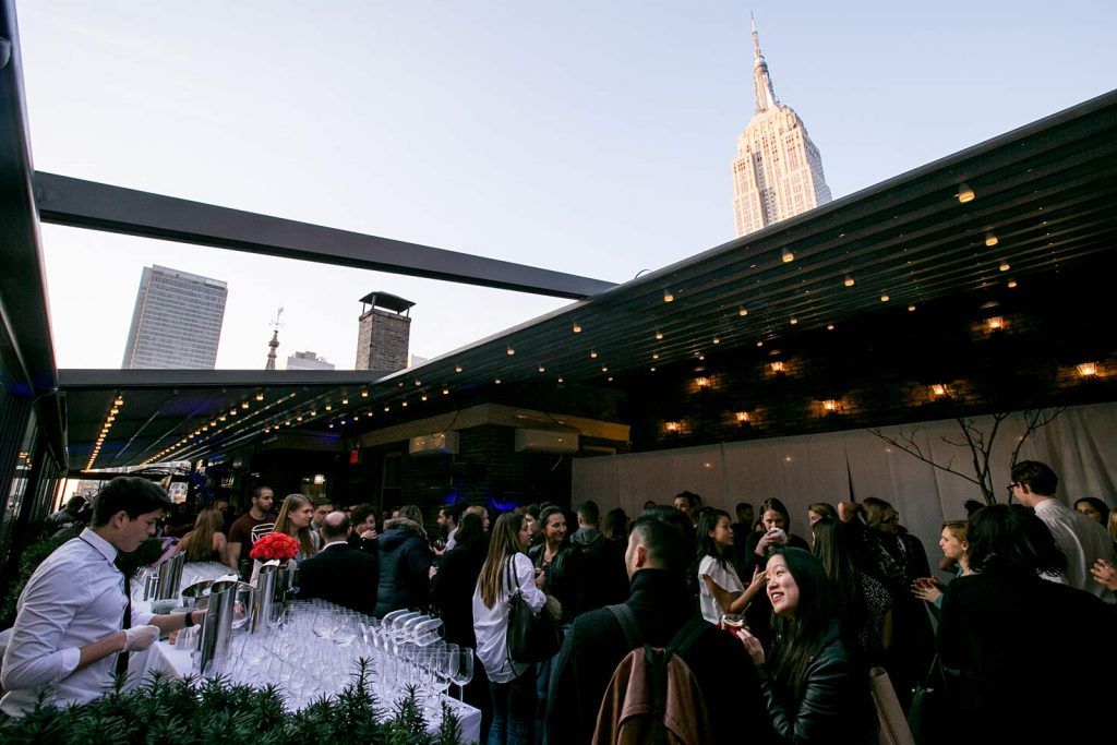 outdoor bar on the terrace - NYC corporate event space