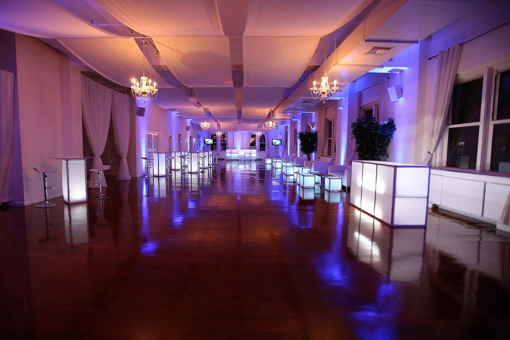 2 Midtown Loft venue space decorated for Sweet 16 event