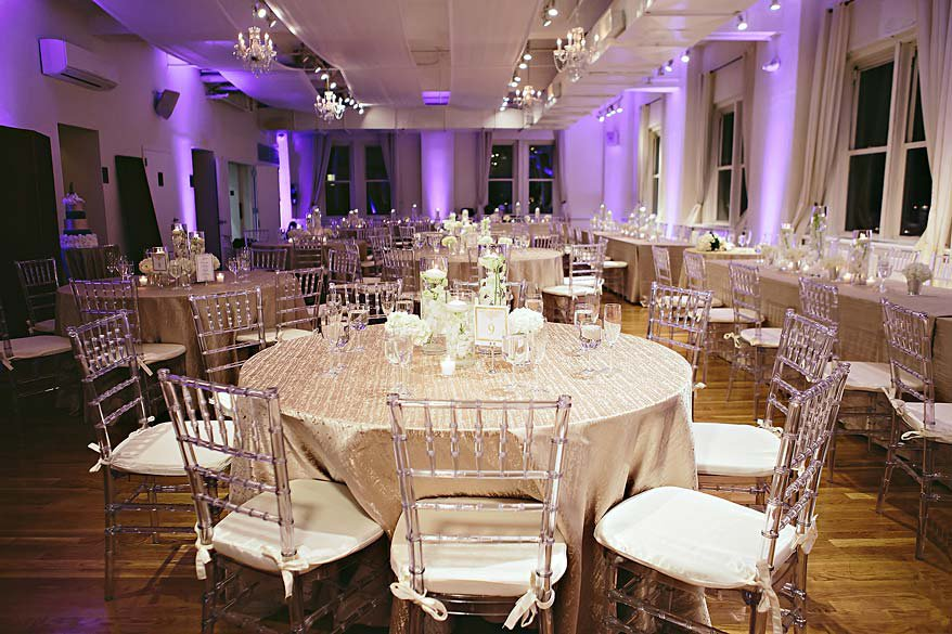 2 Midtown Loft venue decorated for a private wedding