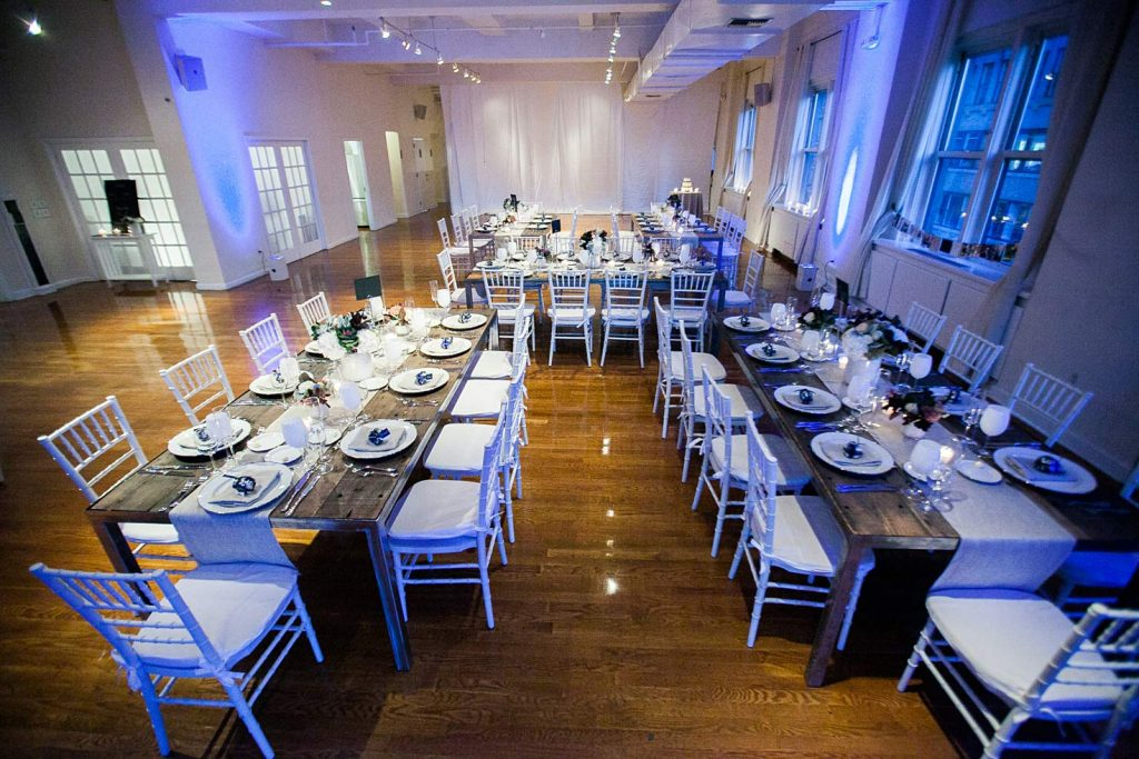 28 Midtown Loft venue decorated for a private wedding