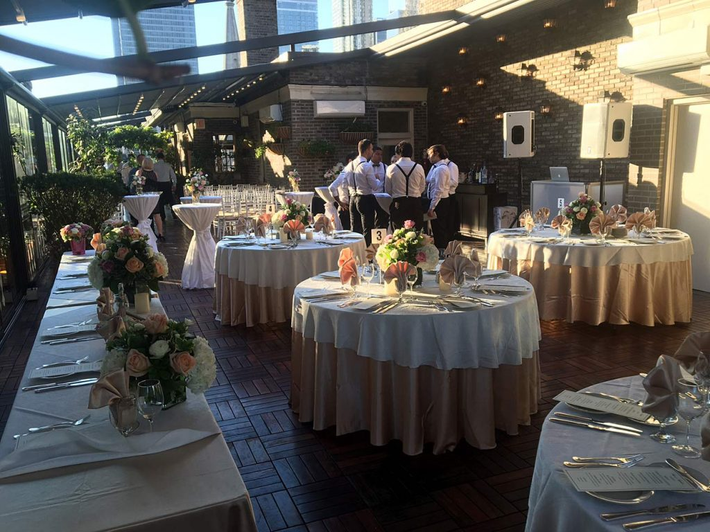 tables set for wedding - Midtown Terrace