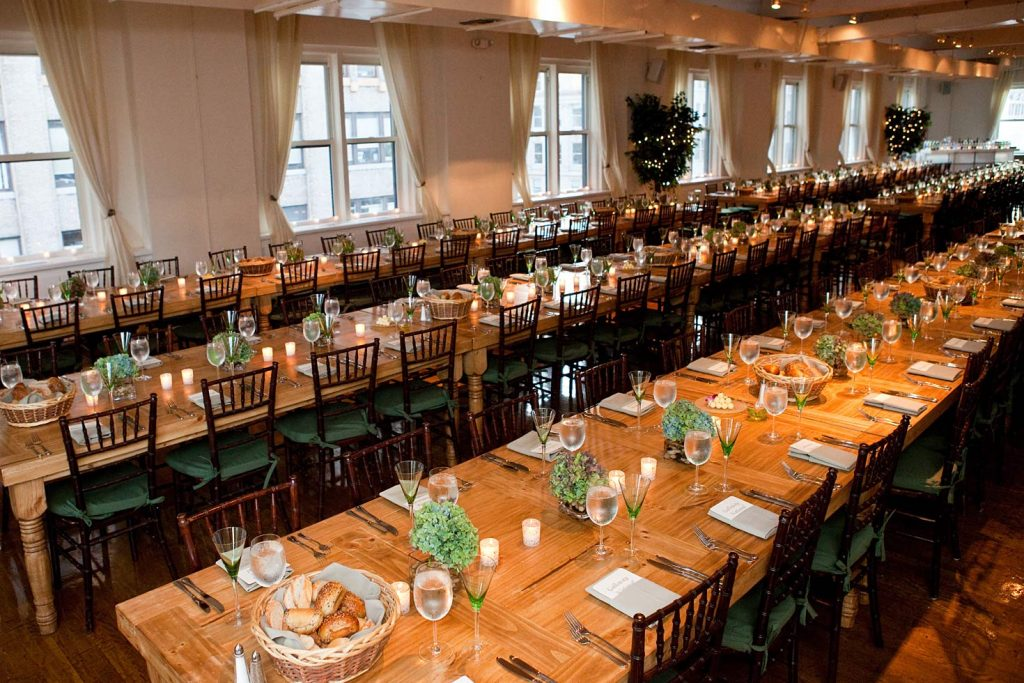 31 Midtown Loft venue decorated for a private wedding