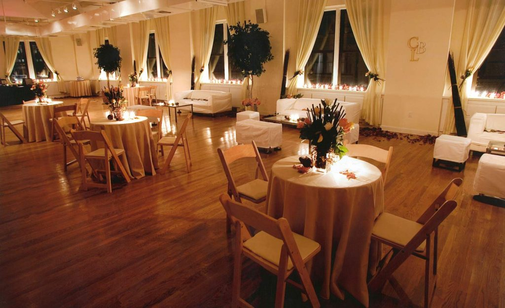 36 Midtown Loft venue decorated for a private wedding