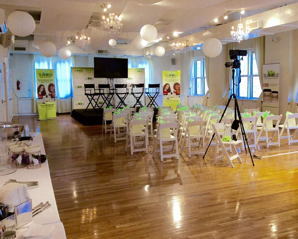 Small event set up - NYC corporate event space