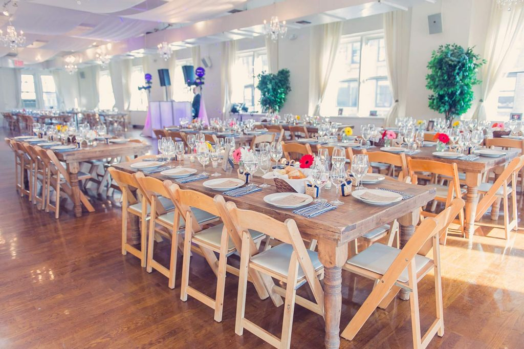 37 Midtown Loft venue decorated for a private wedding