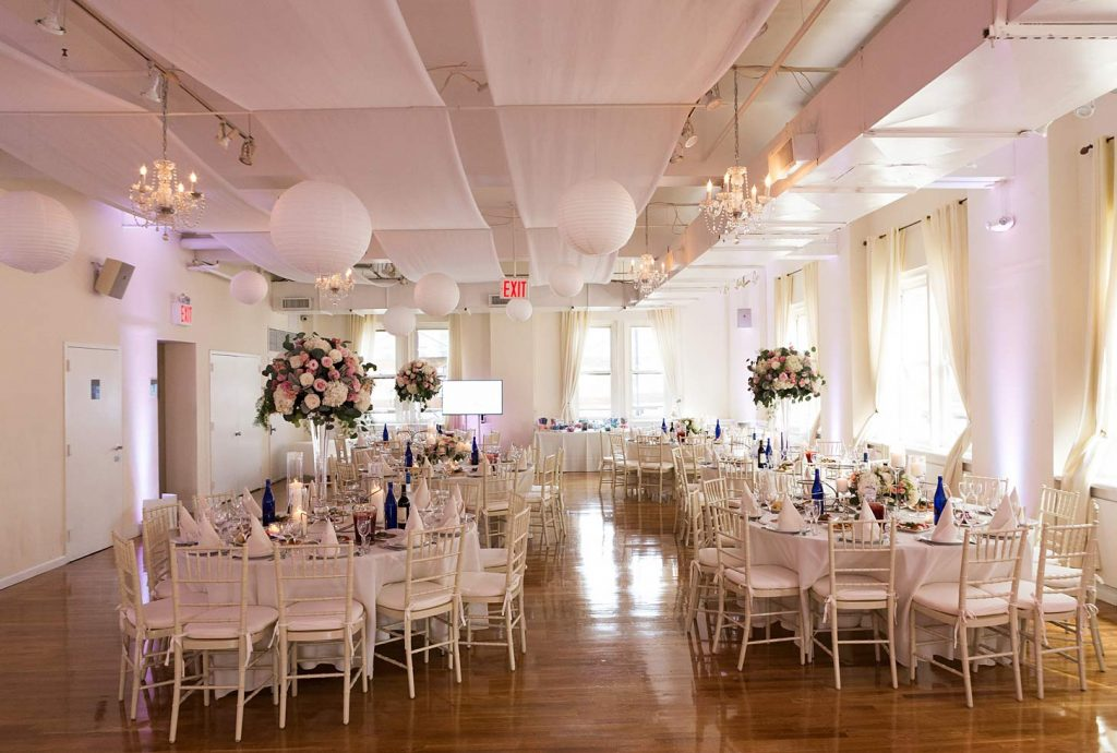 38 Midtown Loft venue decorated for a private wedding