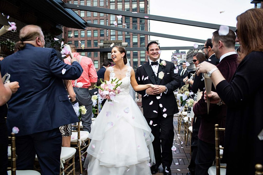 45 Midtown Loft venue decorated for a private wedding