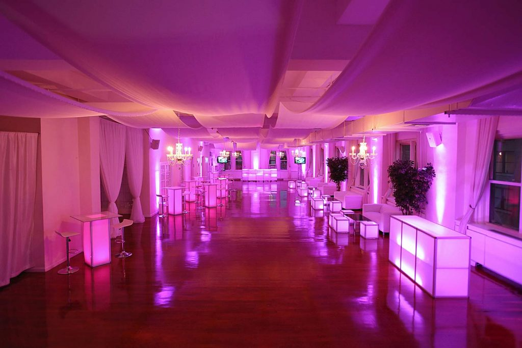 3. Midtown Loft venue space decorated for Sweet 16 event