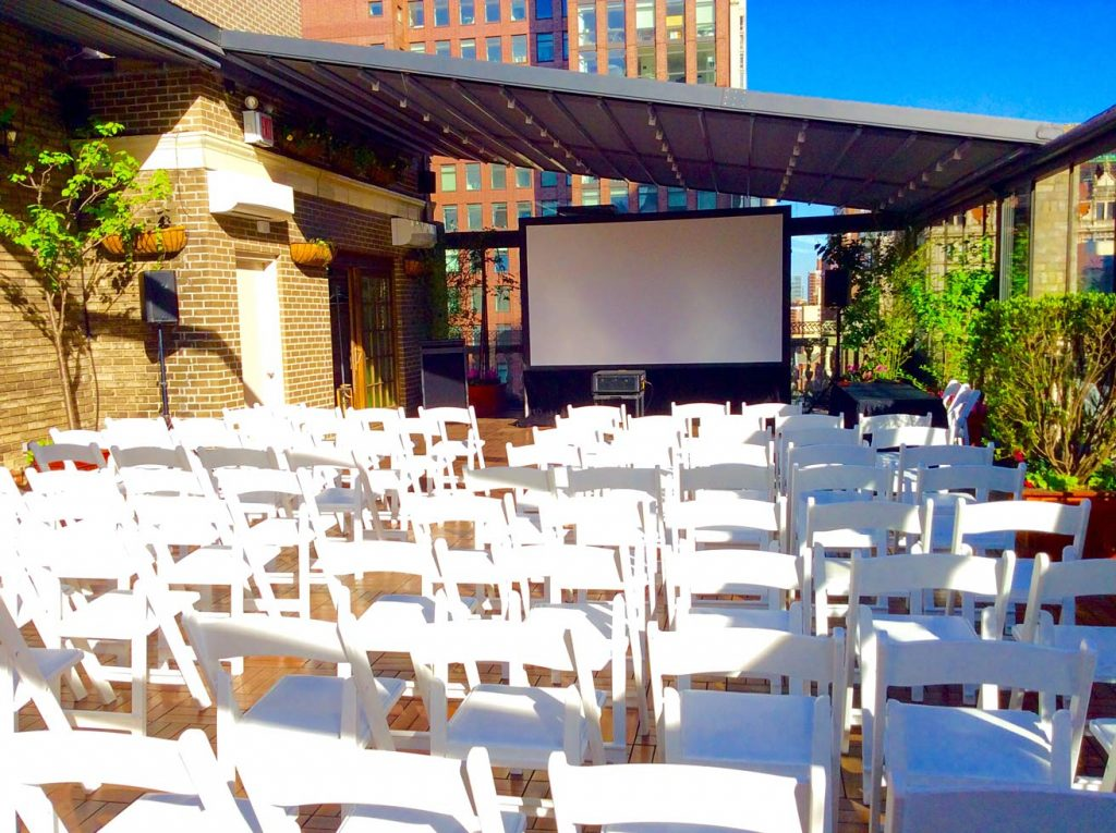screening area on terrace - NYC corporate event space