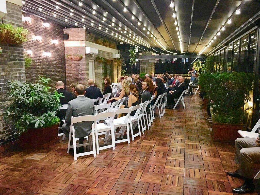 55 Midtown Loft venue decorated for a private wedding
