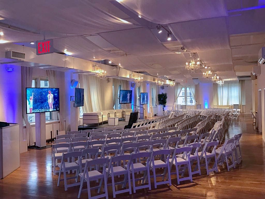 Stage set up for event - NYC corporate event space