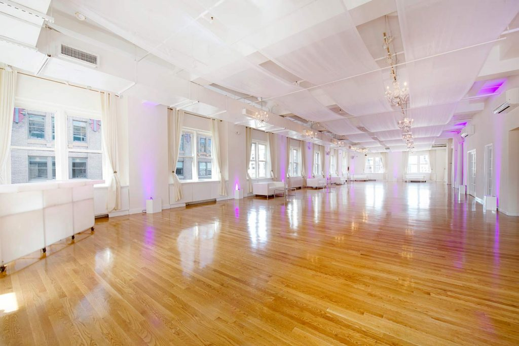 38 Midtown Loft venue space decorated for Sweet 16 event