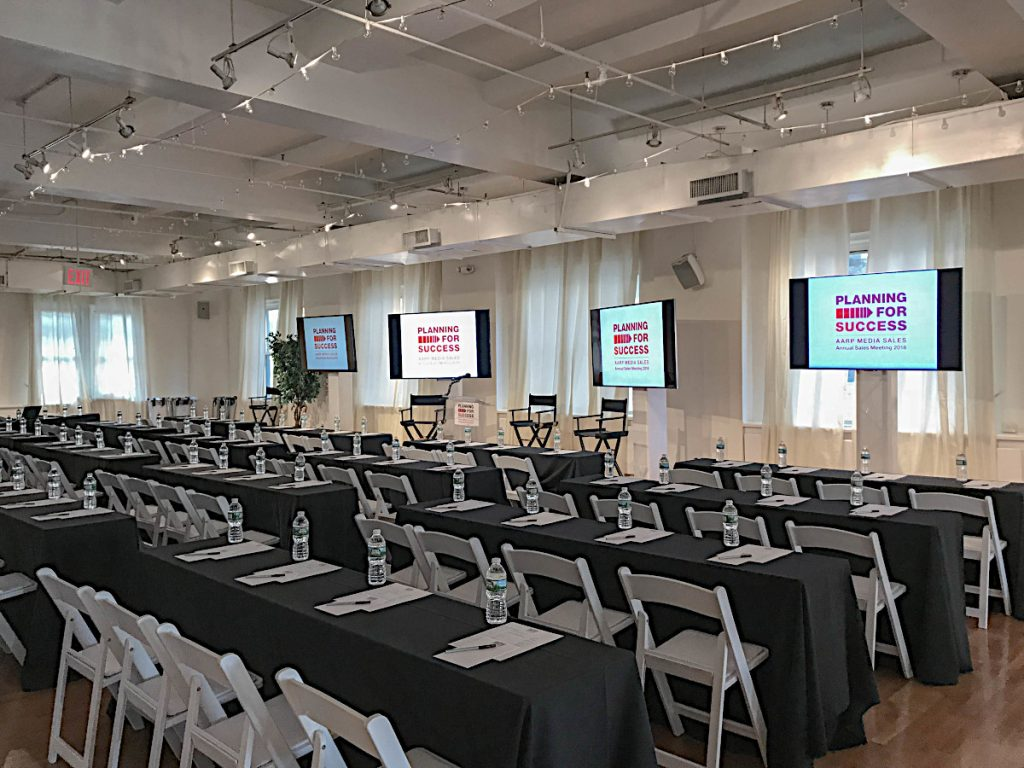 seminar set up - NYC corporate event space