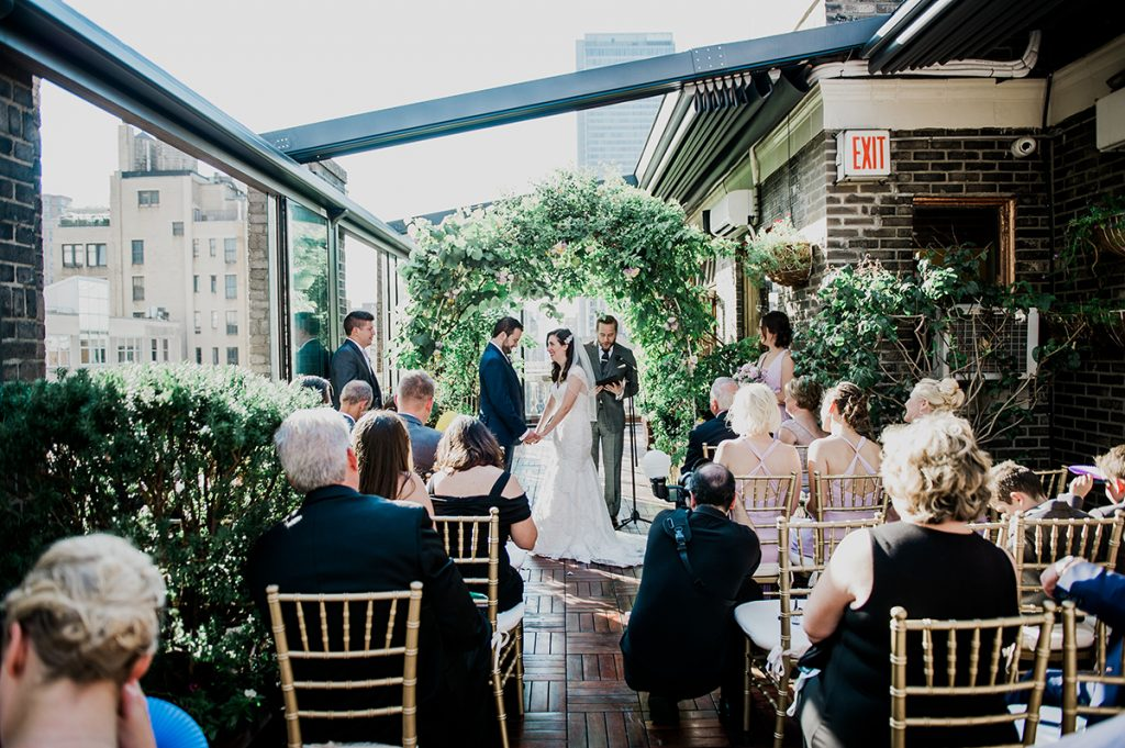 46 Midtown Loft venue decorated for a private wedding