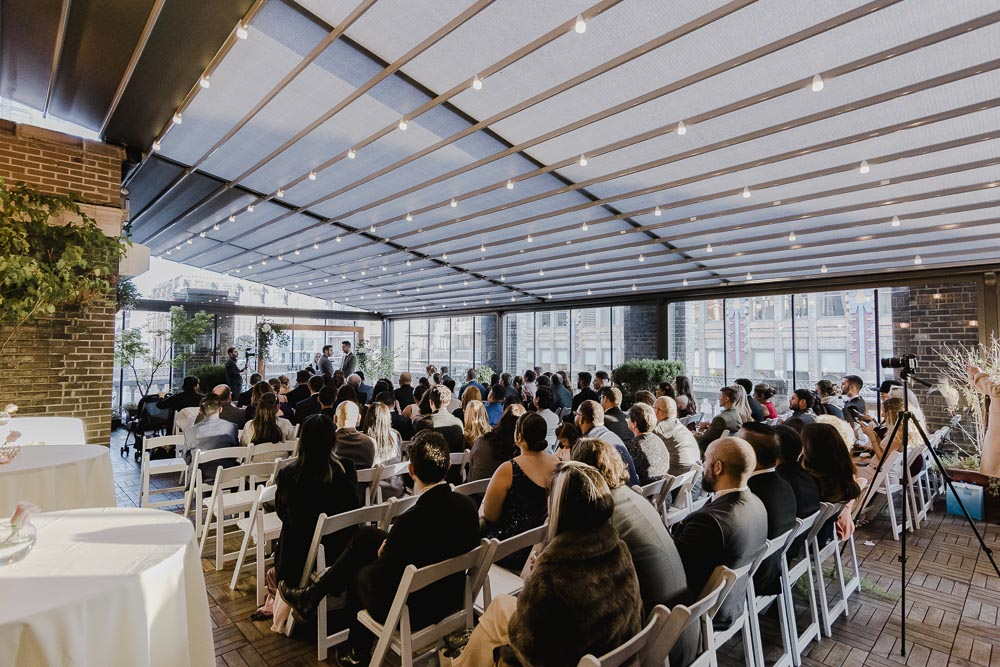 43 Midtown Loft venue decorated for a private wedding