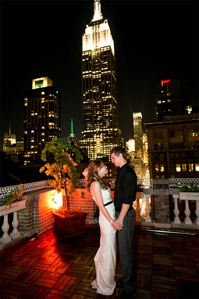 77 Midtown Loft venue decorated for a private wedding