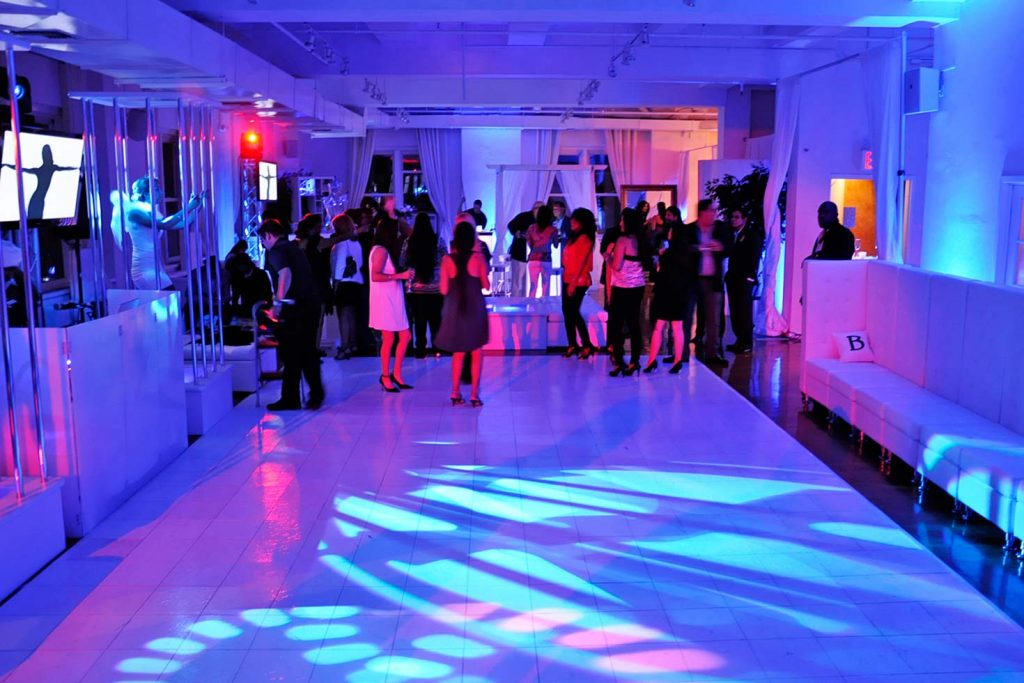 10 Midtown Loft venue space decorated for Sweet 16 event