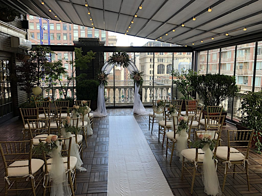 62 Midtown Loft venue decorated for a private wedding
