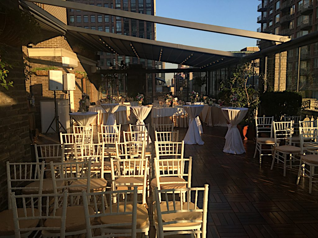 65 Midtown Loft venue decorated for a private wedding