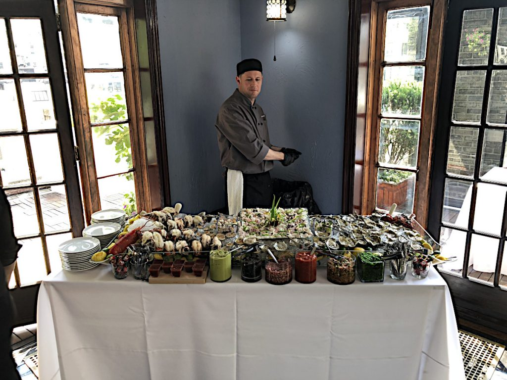 Chef with seafood bar - NYC corporate event space