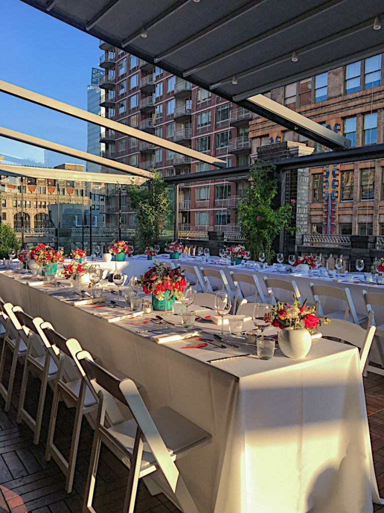 73 Midtown Loft venue decorated for a private wedding