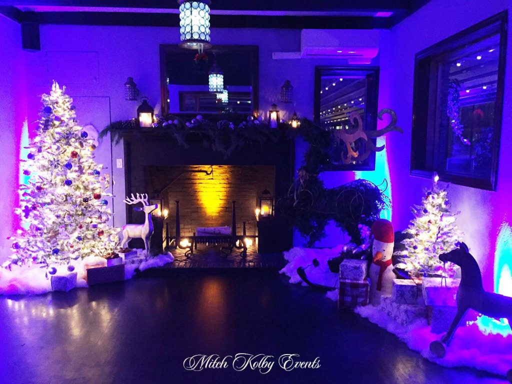 Christmas decorations - NYC corporate event space