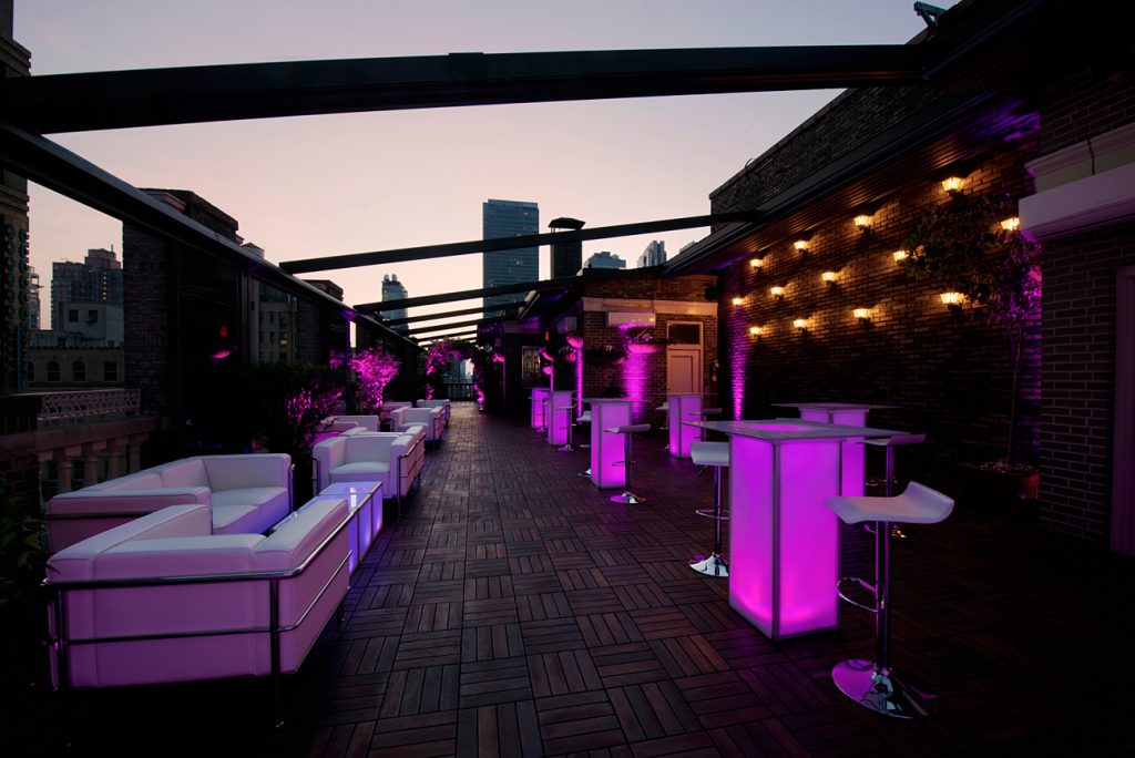 5 Midtown Loft venue space decorated for Sweet 16 event