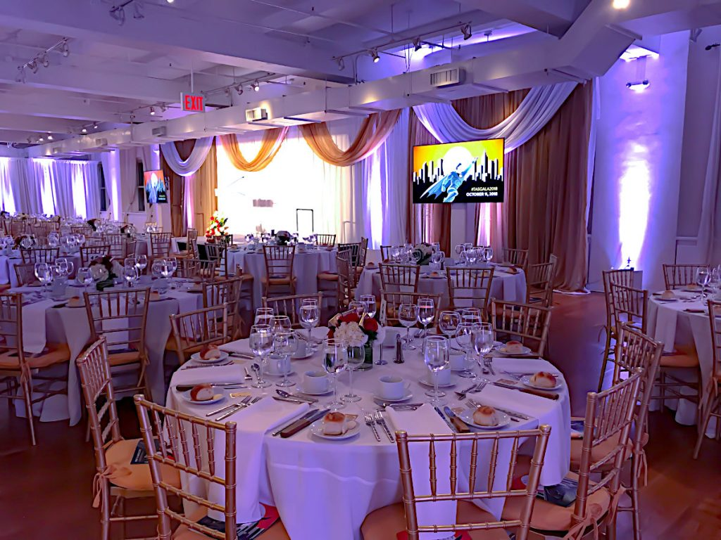 set up for sit-down meal - NYC corporate event space