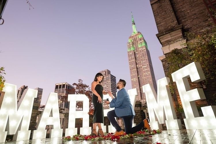 Rooftop proposal Empire State building - Midtown Terrace