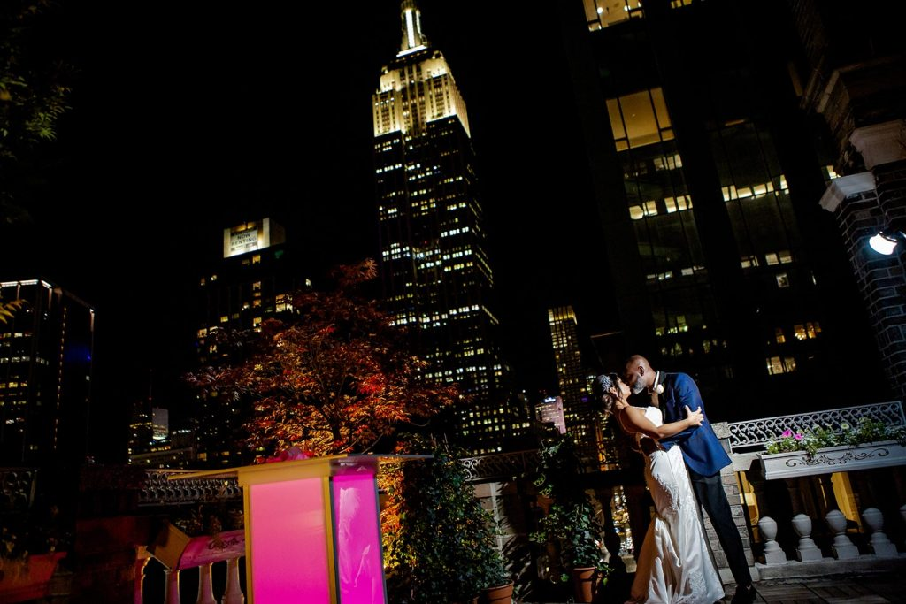 #21: Bride and groom photo with view of Empire St Building