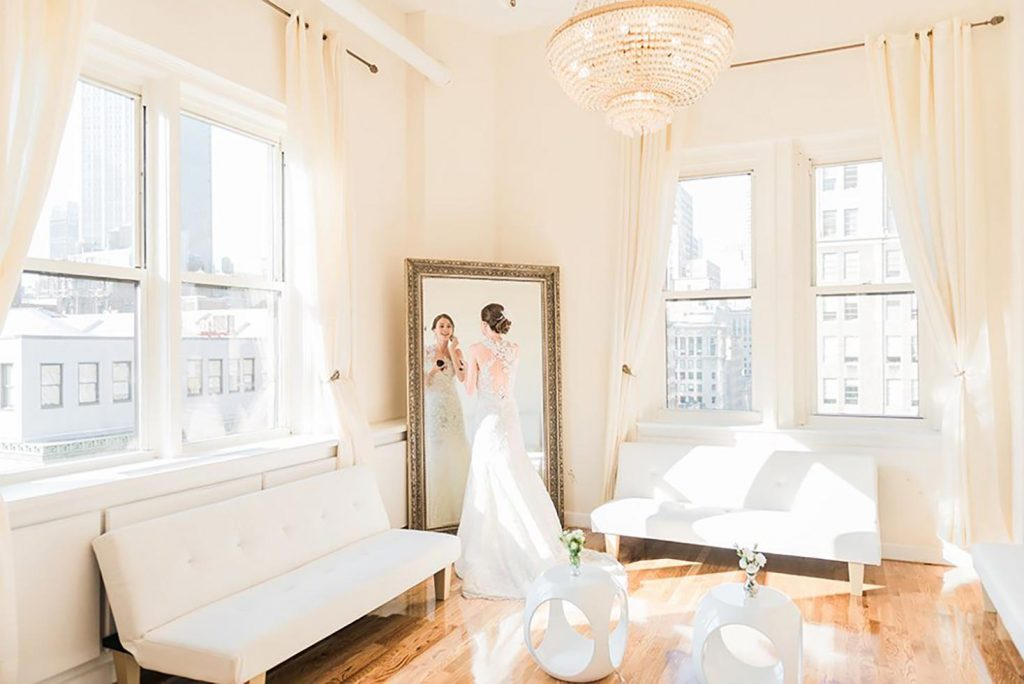 #23: Bride preparing n mirror - Midtown Loft