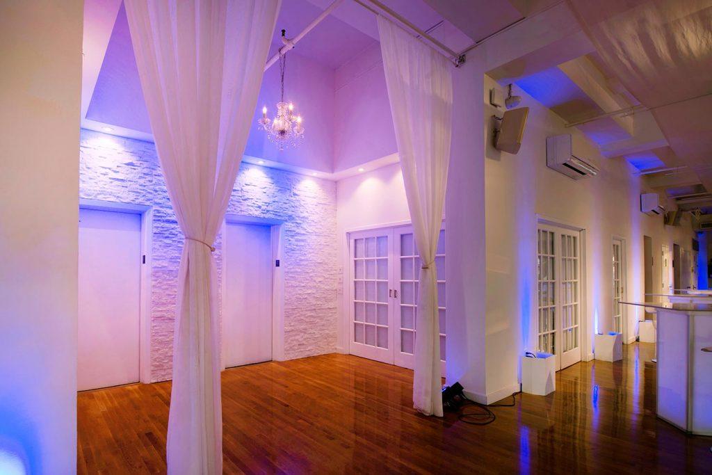 #27: Entrance to loft wedding reception
