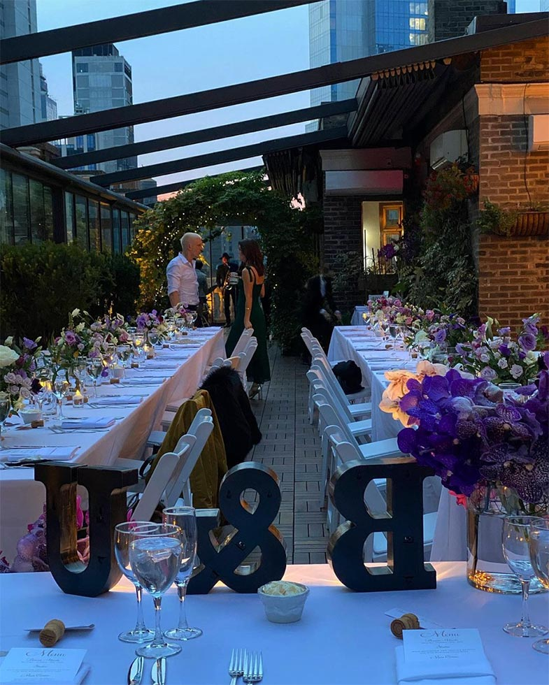 #87: Rooftop wedding reception