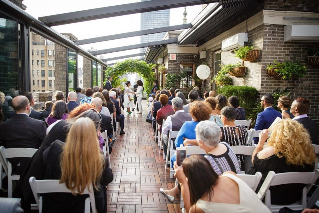 70 Midtown Loft venue decorated for a private wedding