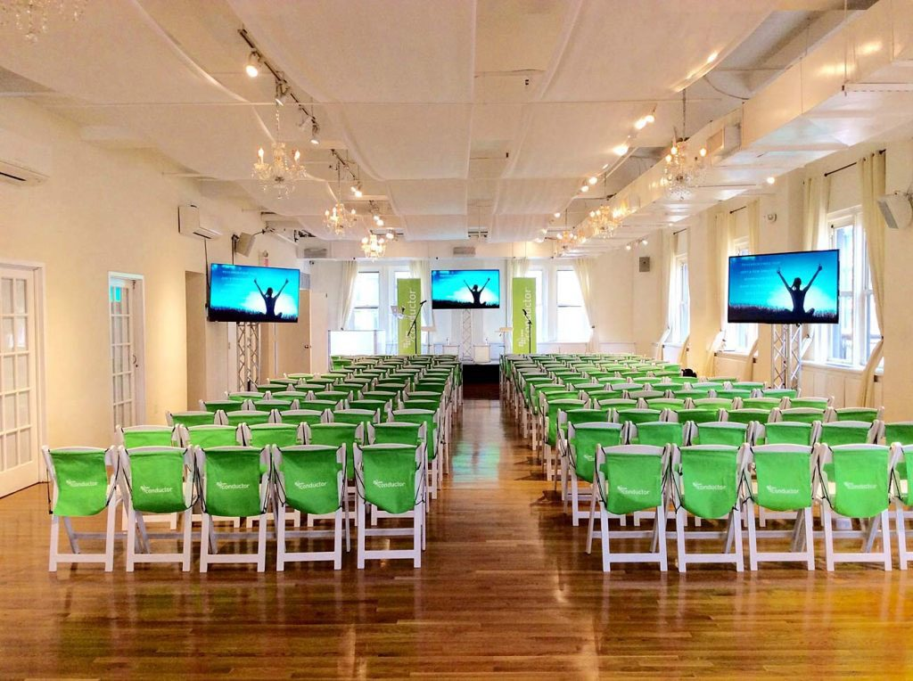Chairs with Branding - NYC corporate event space
